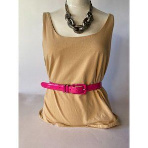 Hot Pink All Leather Belt Style# 50312P